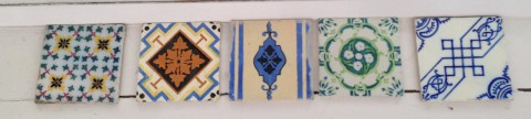 Portugese Antique Tiles Purchase from Joacquim Da Silva